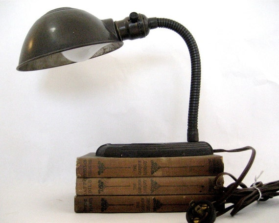 Vintage Gooseneck Desk Lamp Art Deco
