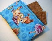 Snack Bag-Fancy Nancy Leopard Blue-reusable-small size