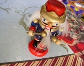 Vintage Christmas Nutcracker Wooden Place Card Table Decoration-moveable front