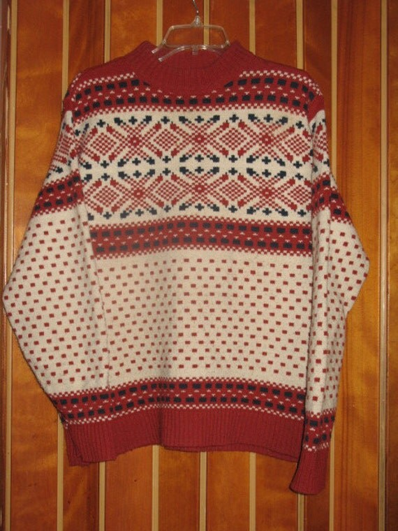 Lord and Jeff Rust Nordic Print Sweater