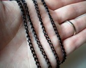 HOLIDAY SALE - 20% OFF 18 Inch Chain Add On - Petite Matte Black Curb Link Chain - Pendant Not Included