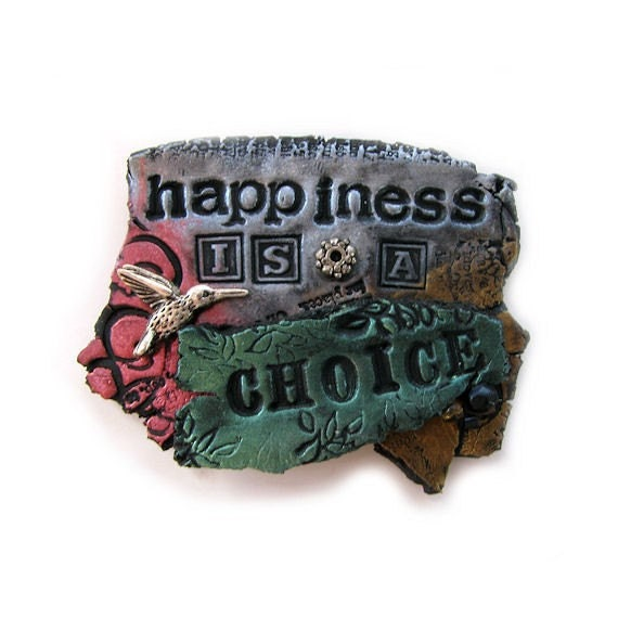 Happiness Is A Choice - Hummingbird Art Magnet