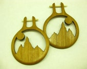 Alpenglow Wooden Earrings