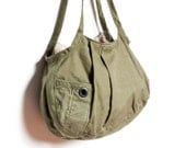 The Clover Repurposed Military Shelter Shoulder Bag
