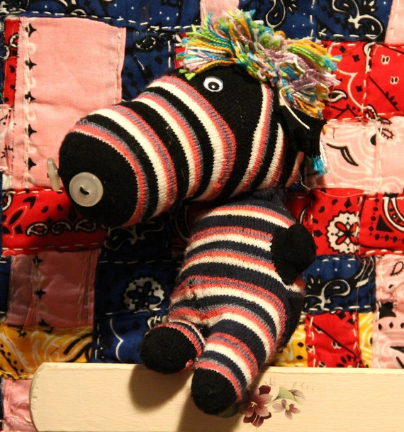 "YOUTH ART- Sock Zebra by ""Hannah"""