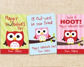 Valentine Printable Cards - Owls