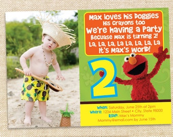 Elmo Birthday invitation - digital file