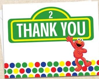 Elmo Thank You Cards - set of 35