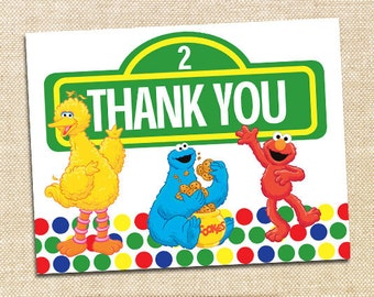 Sesame Street Thank You Cards - set of 12