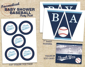 Baseball Baby Shower Printable Party Pack - DIY