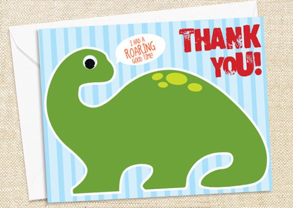 Dinosaur Thank You Cards - set of 12