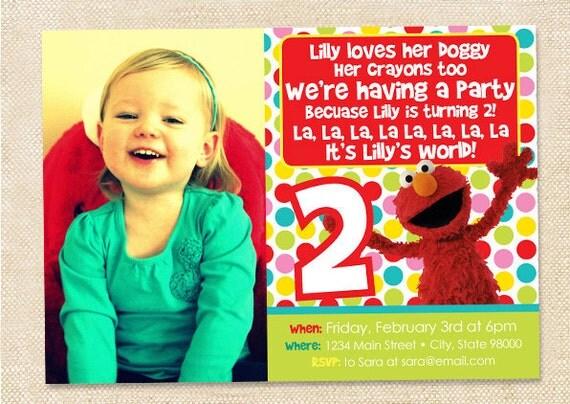Elmo Birthday invitation - digital file