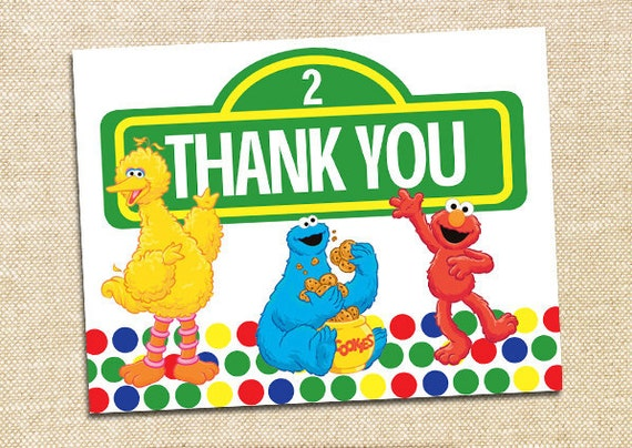 Sesame Street Thank You Cards Set Of 12
