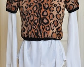 White Embroidered Collar Women's Blouse
