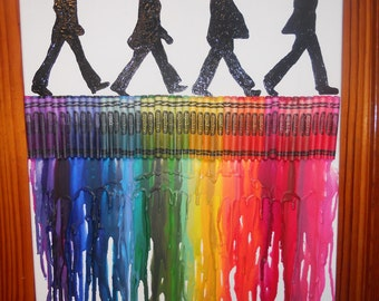 Beatles Inspired Melted Crayon Painting