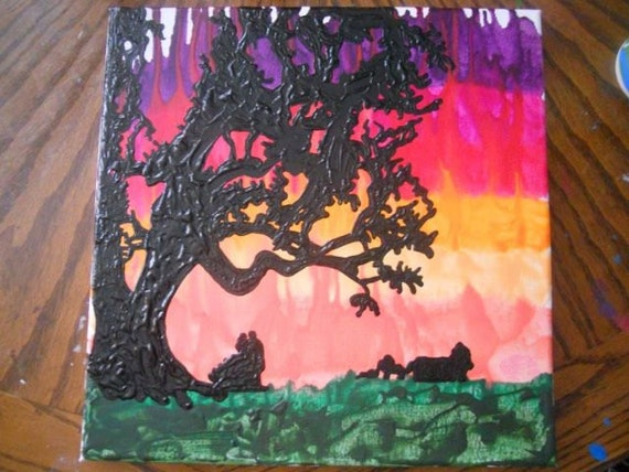 Gone with the Wind Inspired Melted Crayon Painting