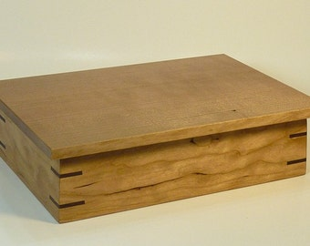 Valet / Keepsake Box in Solid Cherry with Quartersawn Lid