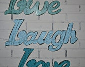 Wall Decor / Live Laugh Love Wall Words/ Sign   / Shabby Chic / Cottage / Shabby Chic Decor