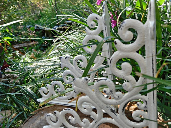 PRE CYBER SALE Cast Iron Shelf Brackets / Shabby Chic Brackets / Shabby Chic Decor