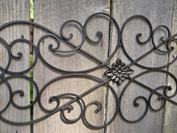 metal wall decor wrought iron indoor outdoor shabby chic decor