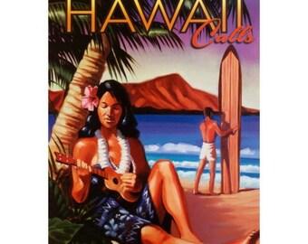 HAWAII 9S- Handmade Leather Journal / Sketchbook - Travel Art
