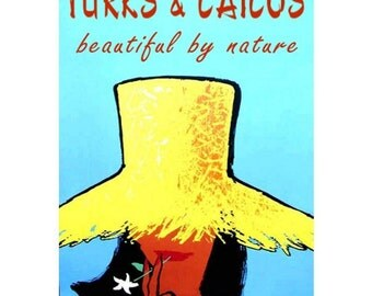 TURKS and CAICOS 1S- Handmade Leather Journal / Sketchbook - Travel Art