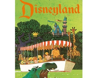DISNEYLAND 19S- Handmade Leather Journal / Sketchbook - Travel Art