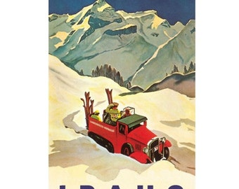 IDAHO 2-Handmade Leather Postcard / Note Card / Fridge Magnet - Travel Art