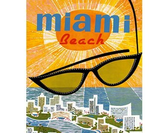 MIAMI BEACH 1S- Handmade Leather Photo Album - Travel Art