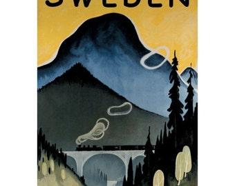 SWEDEN 4S- Handmade Leather Journal / Sketchbook - Travel Art