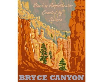 BRYCE CANYON NP 1s- Handmade Leather Journal / Sketchbook - Travel Art