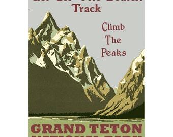 GRAND TETON NP 1s- Handmade Leather Photo Album - Travel Art