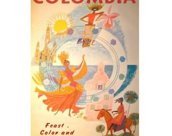 COLOMBIA 1S- Handmade Leather Photo Album - Travel Art