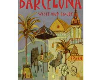 BARCELONA 6S- Handmade Leather Journal / Sketchbook - Travel Art