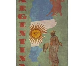 ARGENTINA 1FS- Handmade Leather Photo Album - Travel Art