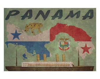PANAMA 1FS- Handmade Leather Photo Album - Travel Art