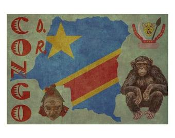 CONGO 1FS- Handmade Leather Journal / Sketchbook - Travel Art