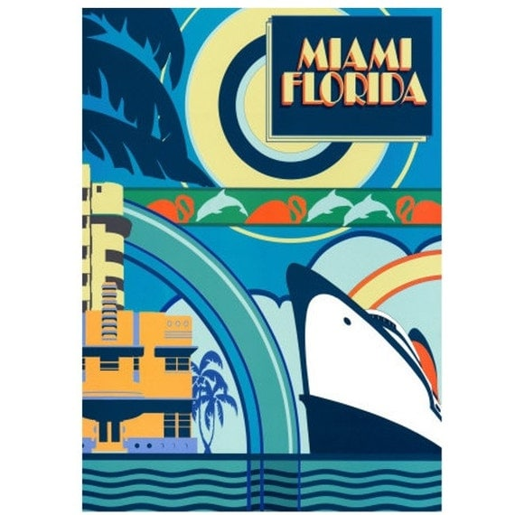 MIAMI 5S- Handmade Leather Journal / Sketchbook - Travel Art