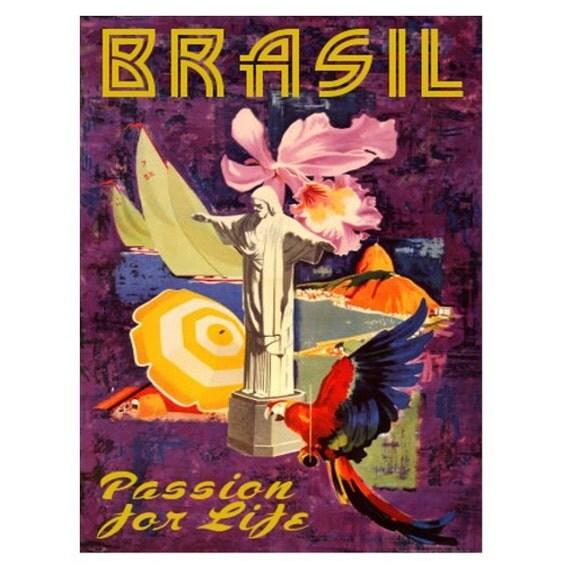 BRAZIL 3s- Handmade Leather Journal / Sketchbook - Travel Art