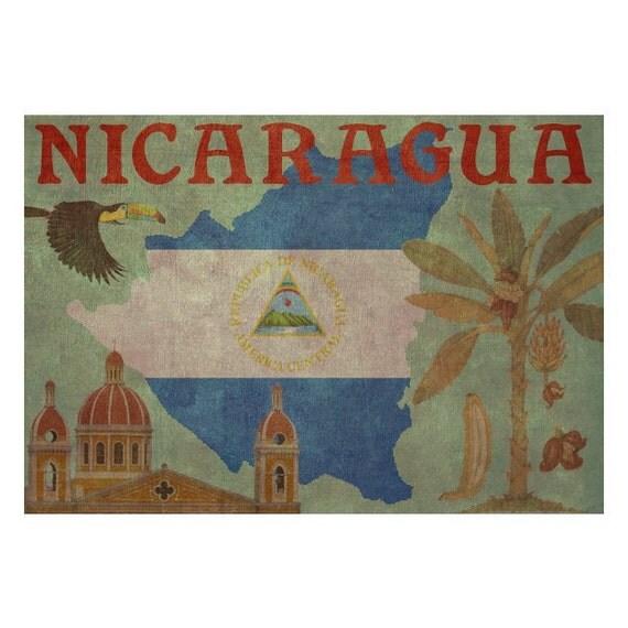 NICARAGUA 1FS- Handmade Leather Journal / Sketchbook - Travel Art