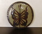 Ken Edwards Butterfly Trivet or Hot Plate, Mexico