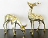 Vintage Brass Deer, Farmhouse Chic, Autumn or Holiday Decor