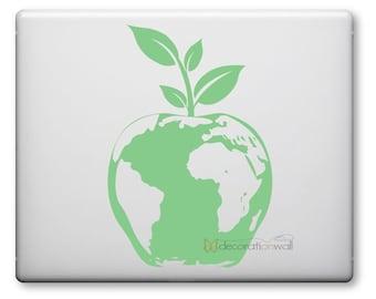 Green Apple laptop decal