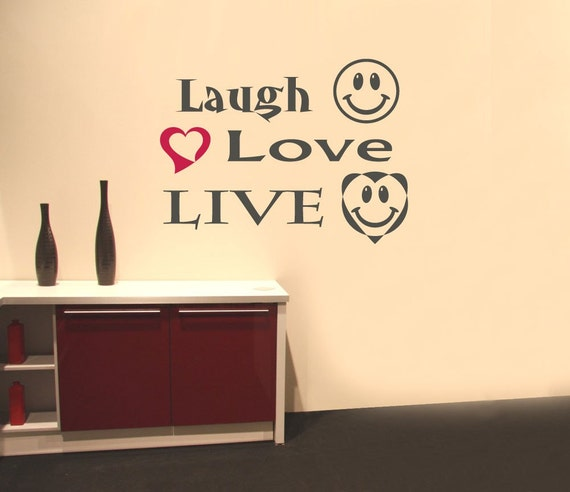 Laugh Love Live Wall Words decal