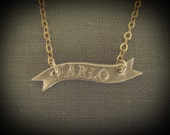 Personalized Banner Necklace