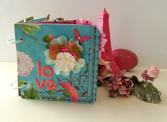 I DO LOVE YOU - Je Vous Aime - Altered Mini Scrapbook