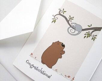 Greetings card, gift card Hello Poss