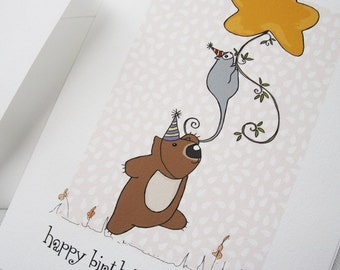 Happy birthday card Poss & Wom