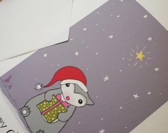 Christmas card, handmade Australian, Pressie for Poss