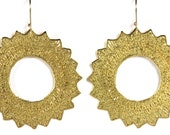 Metal Lace Gold Sun earrings